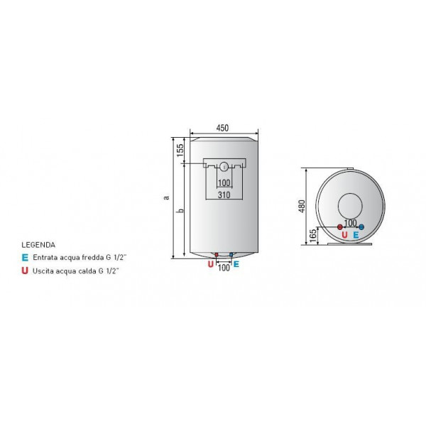 ARISTON PRO PLUS 80 LT  5 ANNI