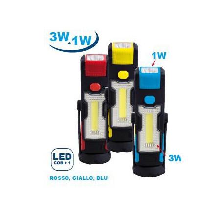 LAMPADA DA LAVORO LED COMBINATA 3W+1W
