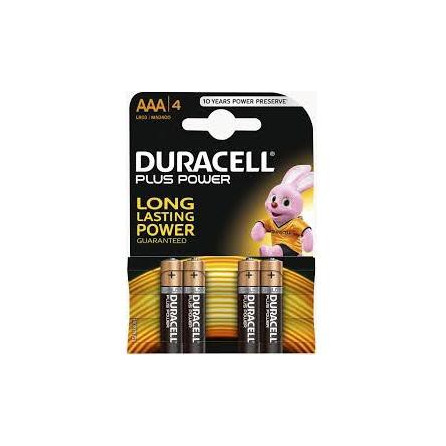 BLISTER 4 BATTERIE DURACELL MINI STILO AAA 1.5V