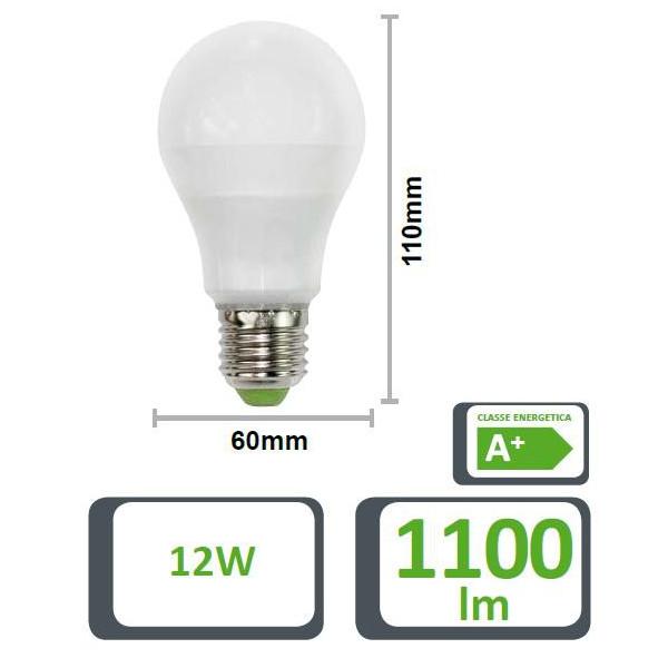 LAMPADA LED GOCCIA 60GF, E27, 12W