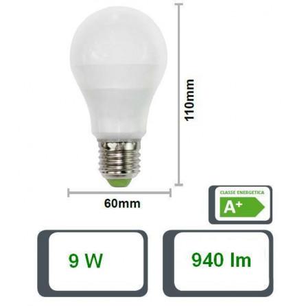 LAMPADA LED GOCCIA 60GF, E27, 9W