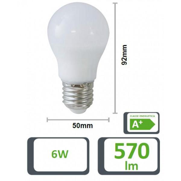 LAMPADA LED GOCCIA 50GF, E27, 6W