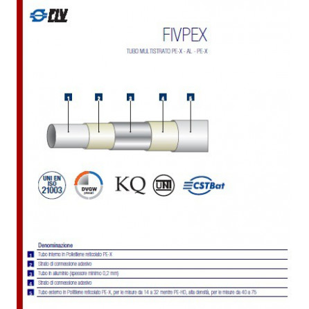 Tubo multistrato da 32 RIVESTITO FIVPEX