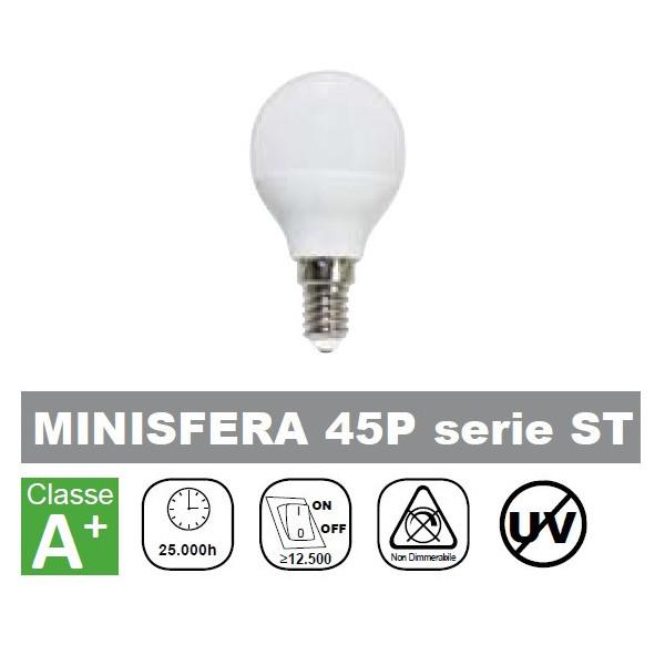 LAMPADA LED MINISFERA 6W 490lm LUCE NATURALE