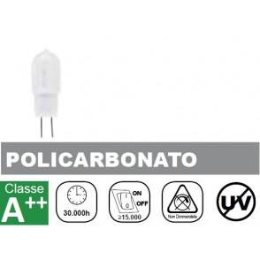 LAMPADA LED 1.5W, 110lm(+/-10%), Luce Fredda, Policarbonato