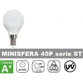 LAMPADA LED 6W, 500lm, Minisfera, 6500K, Luce Fredda