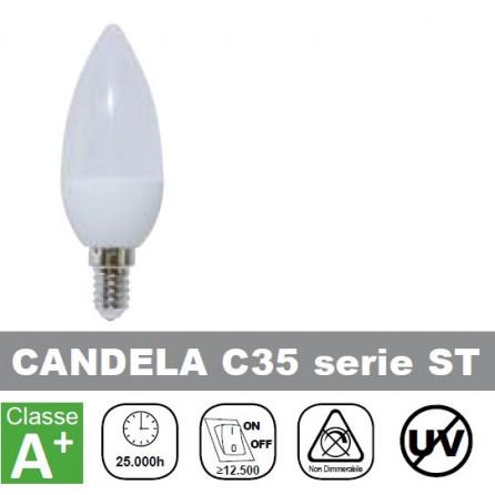 LAMPADA LED 6W, 500lm, Candela, Luce Fredda