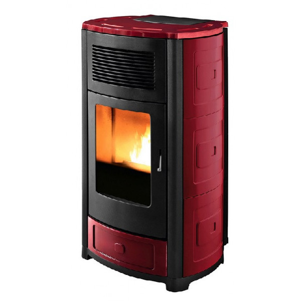 MCZ STUFA A PELLET SUITE HYDRO 22  BORDEAUX CERAMIC