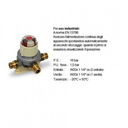 Riduttore alta pressione GPL /PROPANO primo stadio con inversore automatico portata 8 kg/h